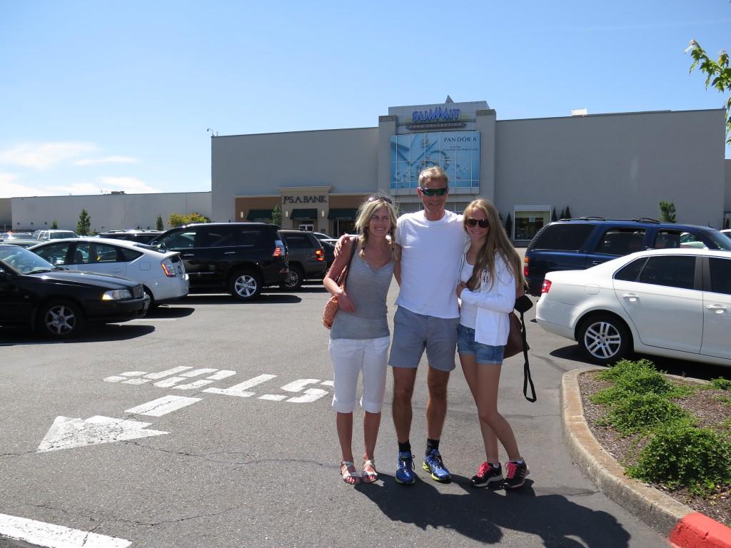 På shopping like ved pre campen i Forest Grove før vi reiste til Eugene